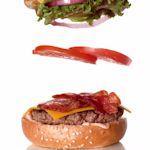 Hamburger uit elkaar