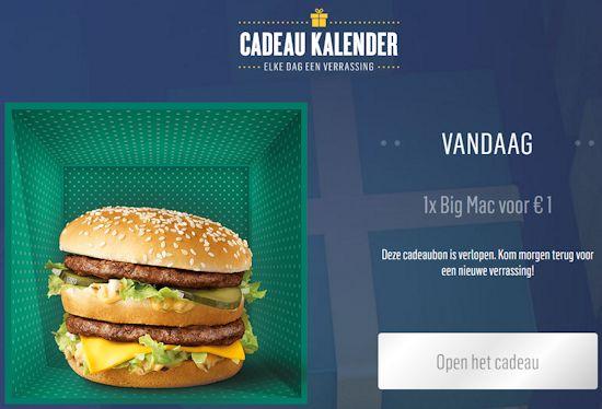 McDonald's cadeau kalender