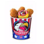 Mad Roosters: een bucket gevuld met kip