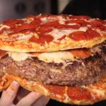 Pizza-burger-pizza