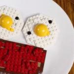Ontbijt gemaakt van Lego