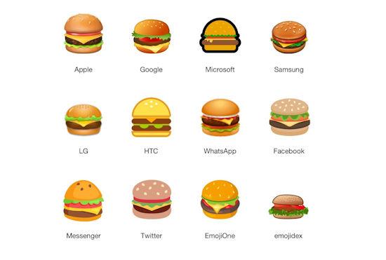 burger emoji overzicht
