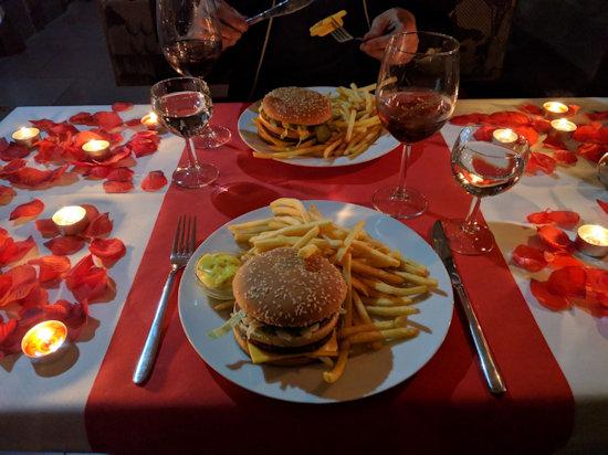 Valentijnsdiner McDonald's