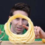 Pringles stapelen tot een cirkel