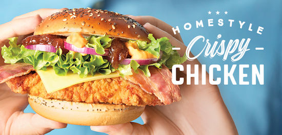 Homestyle Crispy Chicken burger