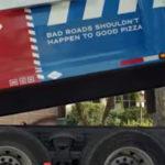 Domino's voert wegreparaties uit om pizza's veilig te bezorgen