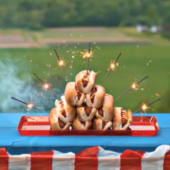 Hotdogs en vuurwerk