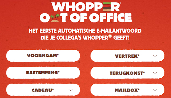 Whopper out-of-office