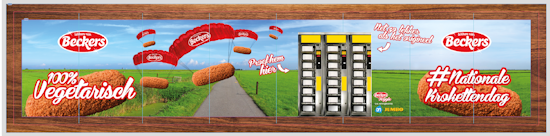 Beckers Kroket billboard