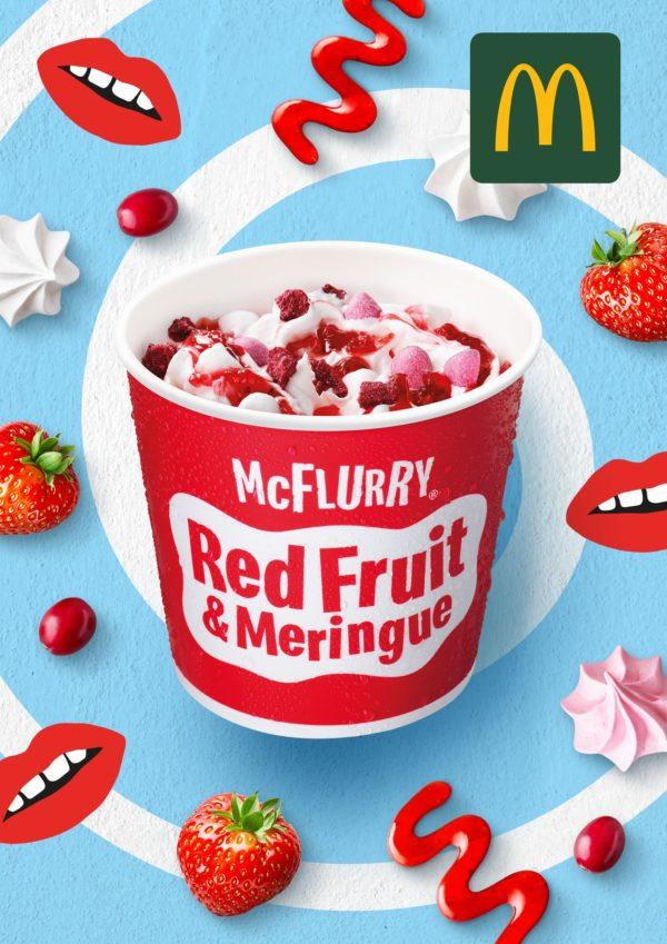 McFlurry Red Fruit Meringue