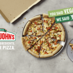 Papa's John vegan pizza