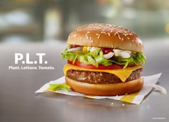 McDonald's PLT burger