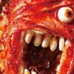 Zombiepizza voor Halloween
