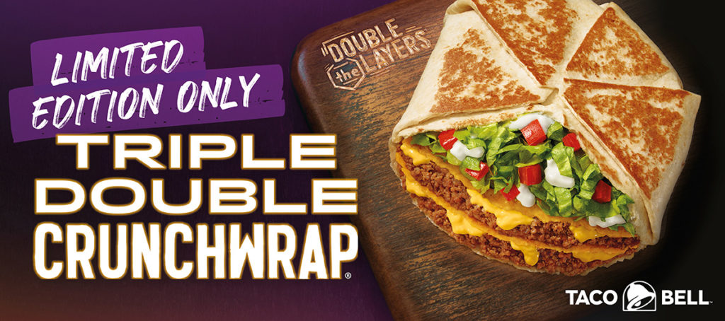 Taco Bell Triple double crunchwrap