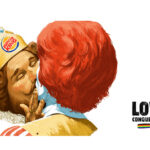 Burger King kust Ronald McDonald
