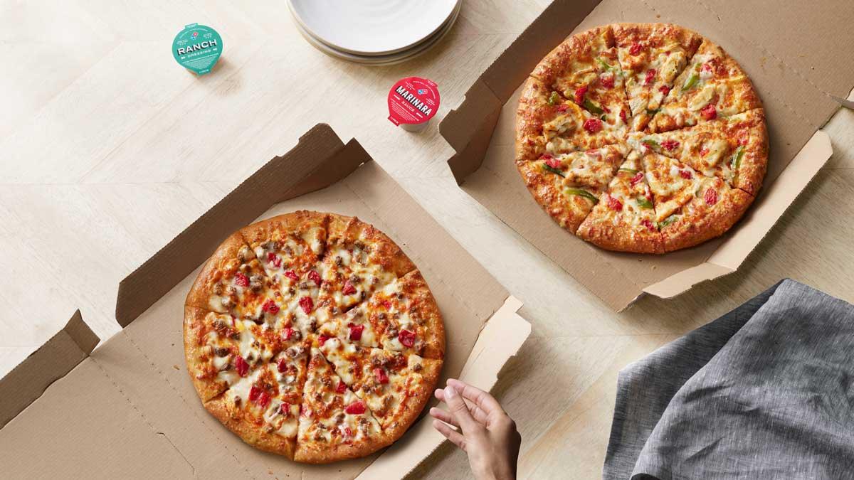 Cheeseburger Taco Pizza Dominos