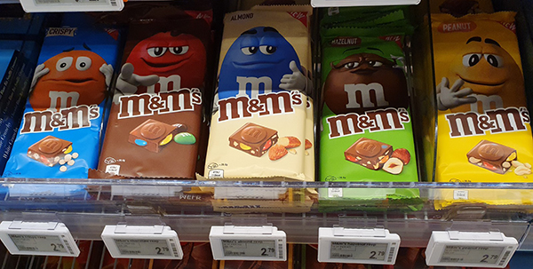 M&Ms chocolade repen