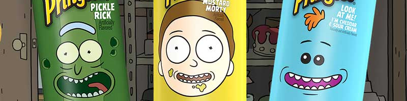Rick And Morty Pringles 3 smaken