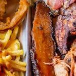 Kan een professioneel eter dit enorme barbecue menu in een uur opeten?