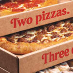 Driegangen voor kerst bij Amerikaanse Pizza Hut