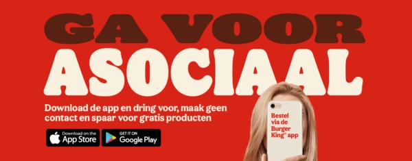 Burger King Nederland Asociale app