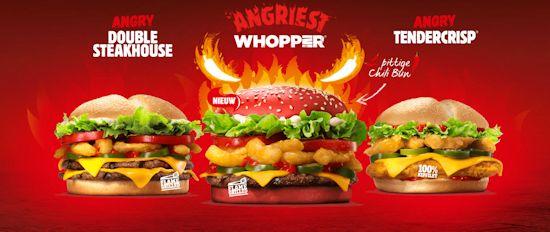 Angry familie van Burger King