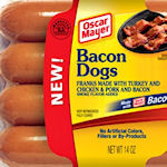 Hotdogs gemaakt van bacon