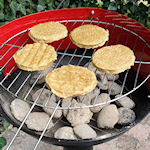 Barbecue op zuil
