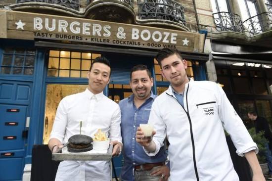 Burgers en Booze zwarte hamburger