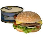 Cheeseburger uit blik