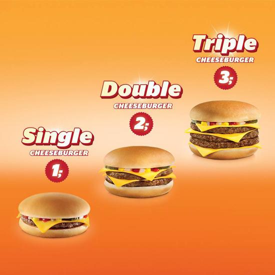 Cheeseburgers Mc Donald's