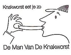 De man van de knakworst