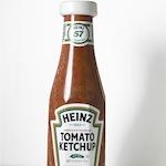 Deze fles ketchup is van steen