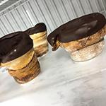 IJshoorntje gemaakt van donuts