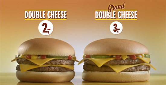 Double Cheese en Grand Double Cheese