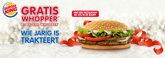 Gratis Whopper Burger King 60jr