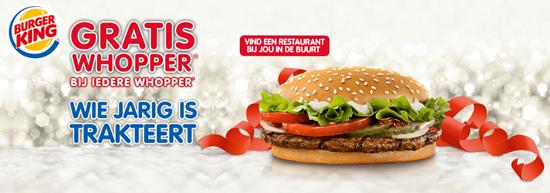 Gratis Whopper Burger King 60jr