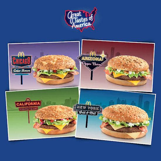 Great tastes of America bij McDonald's
