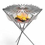 Barbecue die op te vouwen is als een paraplu
