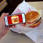 Hamburger advertentie