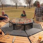 JAG Grill: Barbecuetafel voor acht personen