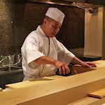 Japanse sushi-meesterkok