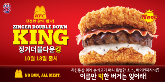 Zinger Double Down King