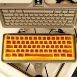 Wafelijzer maakt eetbaar toetsenbord