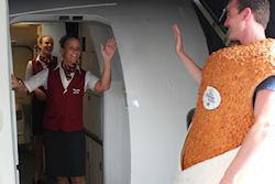 Kroket in vliegtuig