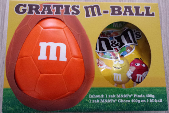 M&M's verpakking met M-Ball