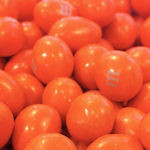 Oranje M&M's met speciale M-ball