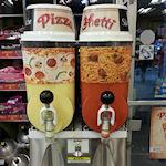 IJsdrank is mix van pizza en spaghetti