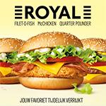 Royal: rijkelijk belegde burgers van McDonald's