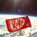KitKat ruimte ingestuurd voor super sprong